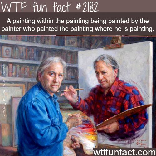 A painting within a painting…. - WTF fun facts I don't even know where to begin with this