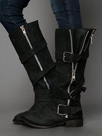 Free People Marlo Zip Buckle Boot