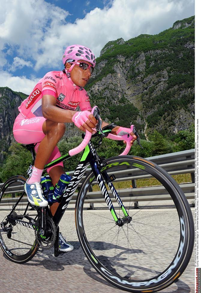Giro d'Italia 2014 - Stage 17 - Race leader Nairo Quintana (Movistar)