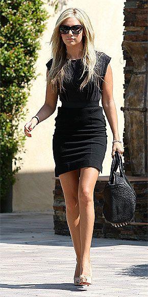 Ashley Tisdale Black Dress November 2017