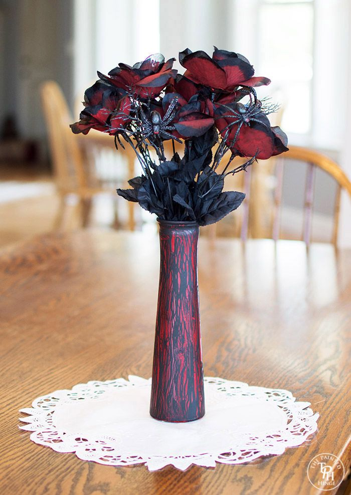 diy halloween crackle vase create distressed home decor for halloween using the elmers glue crackle