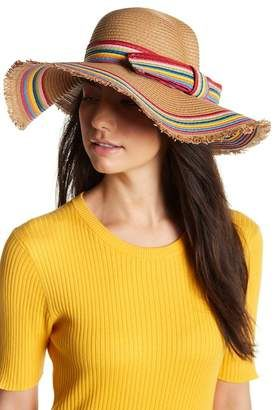 Betsey Johnson Rainbow Raw Edge Floppy Hat  hat  womens  3397ea3477f7