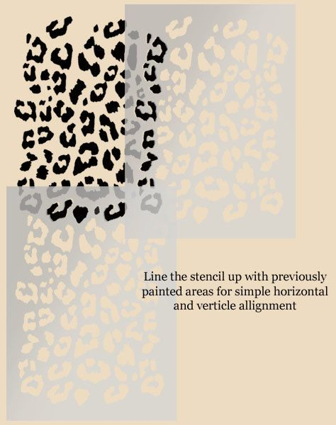 Leopard print stencil painting stencil decorative por IdealStencils