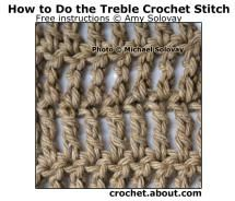 Basic Stitches in Crochet (Instructions for Beginners): Basic Crochet Stitches: Treble Crochet