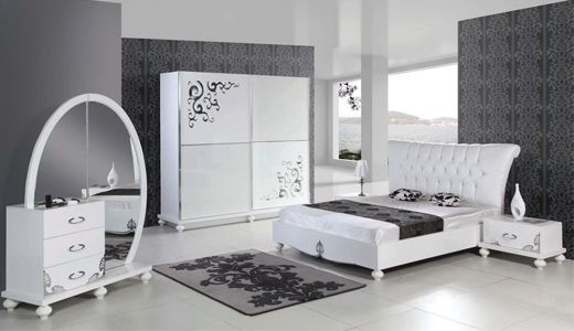 Klasik Beyaz Yatak Odaları - http://www.mobilyakulisi.com/klasik-beyaz-yatak-odalari.html