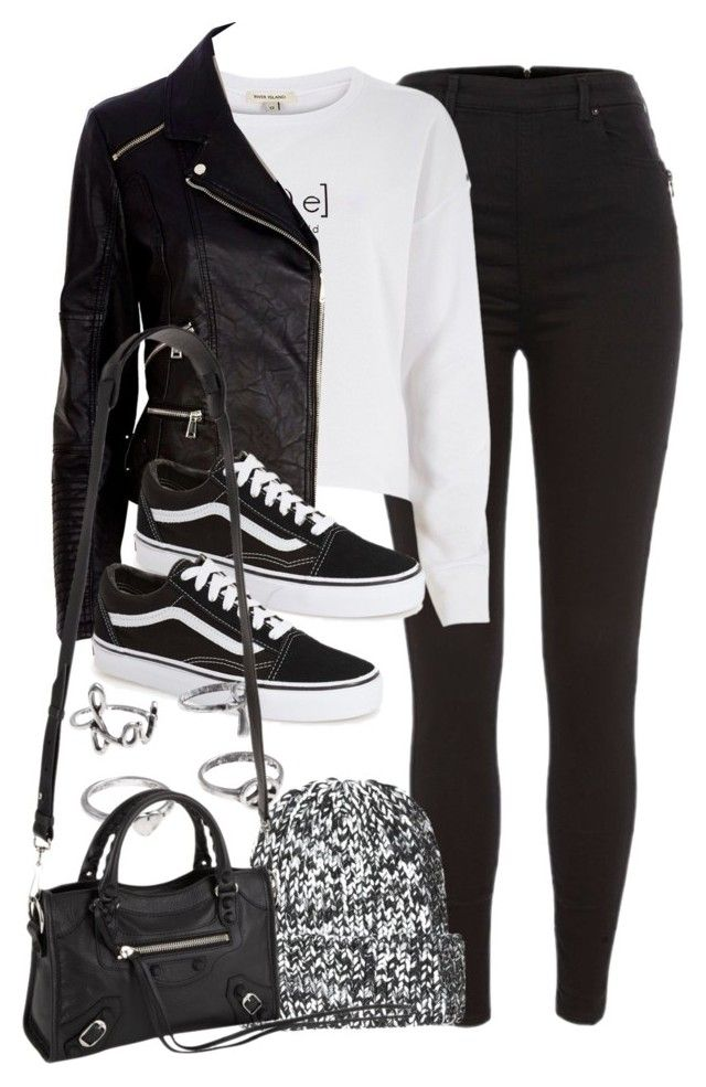 """Style #9680"" by vany-alvarado ❤ liked on Polyvore featuring River Island, Vans, Topshop and Balenciaga"