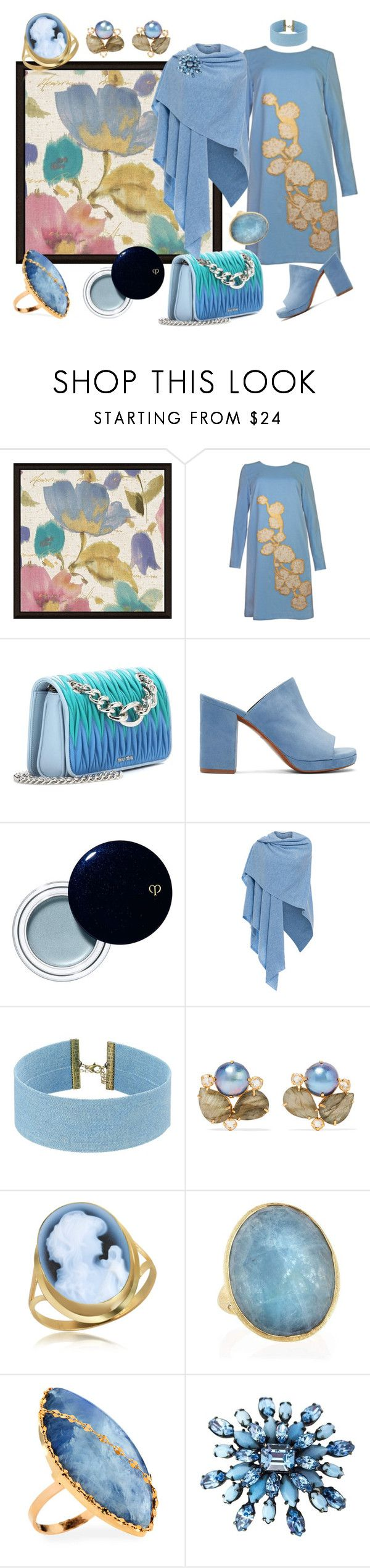 """""""Indigenous"""" by yournightnurse ❤ liked on Polyvore featuring Green Leaf Art, Plakinger, Miu Miu, Robert Clergerie, Clé de Peau Beauté, Kinross, Steve Madden, Bounkit, Del Gatto and Marco Bicego"""