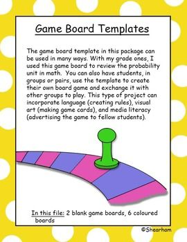 110 best images about for kylie on pinterest template for Board game instructions template