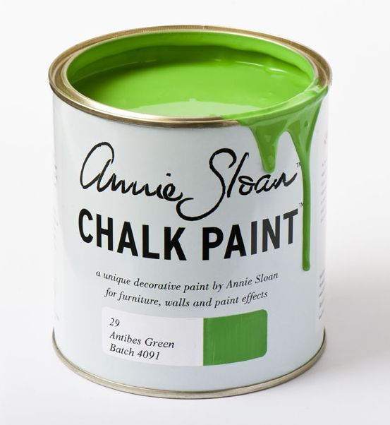 Chalk Interiors - Antibes Green Chalk Paint from Annie Sloan (1 Ltr), £18.95 (http://www.chalkinteriors.com/antibes-green-chalk-paint-from-annie-sloan/)