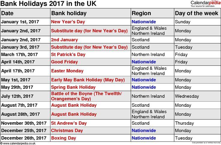 Best  Uk Bank Holidays  Ideas On   Bank Holidays