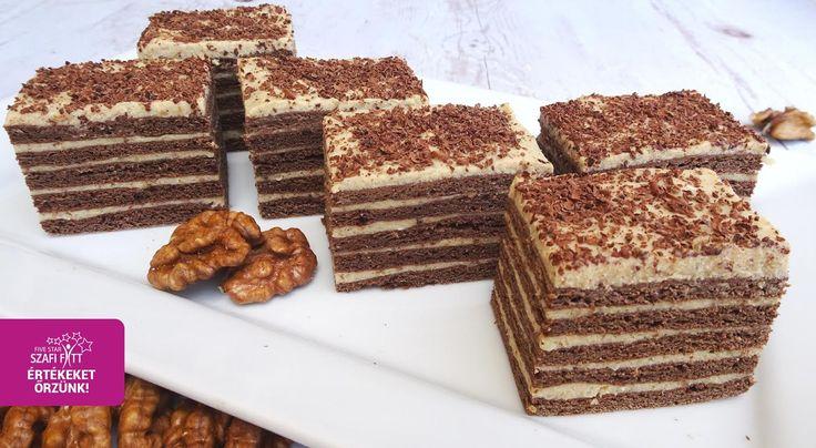 2 gramm szénhidrátot tartalmazó Marlenka ízű sütemény. ami gluténmentes, tejmentes, PALEO