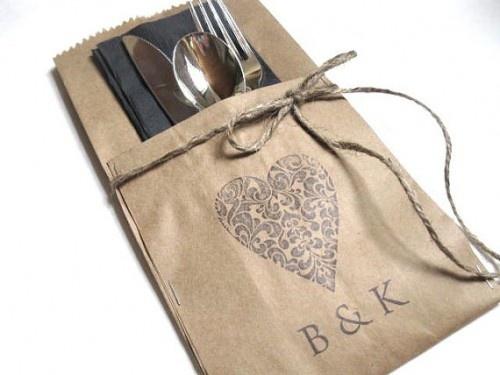 Wedding Silverware Pockets – PERSONALIZED – set of 25 – wedding dinner , wedding decor, wedding rehearsal dinner