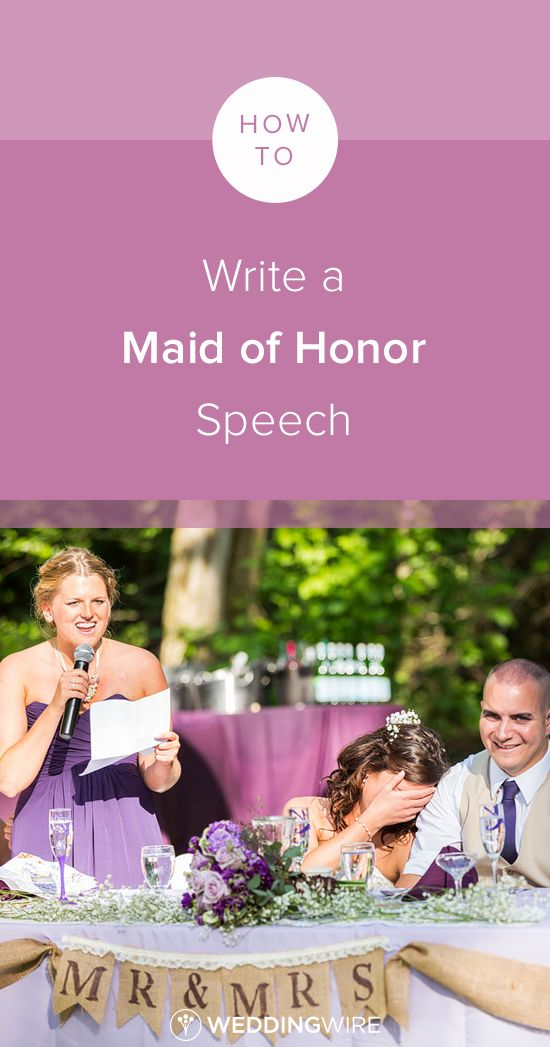 maid of honor speech writing
