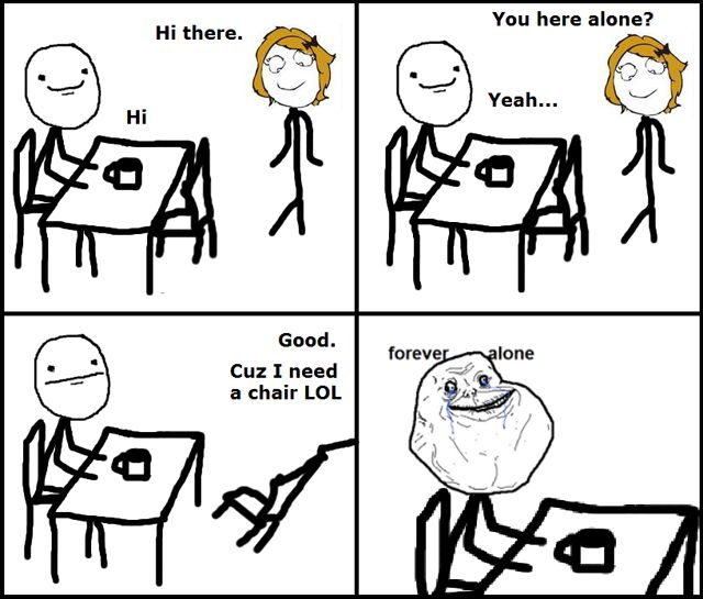 This happened to me the other day.... only they didn't ask. They assumed I was alone.... << Which you probably were #FOREVERALONE