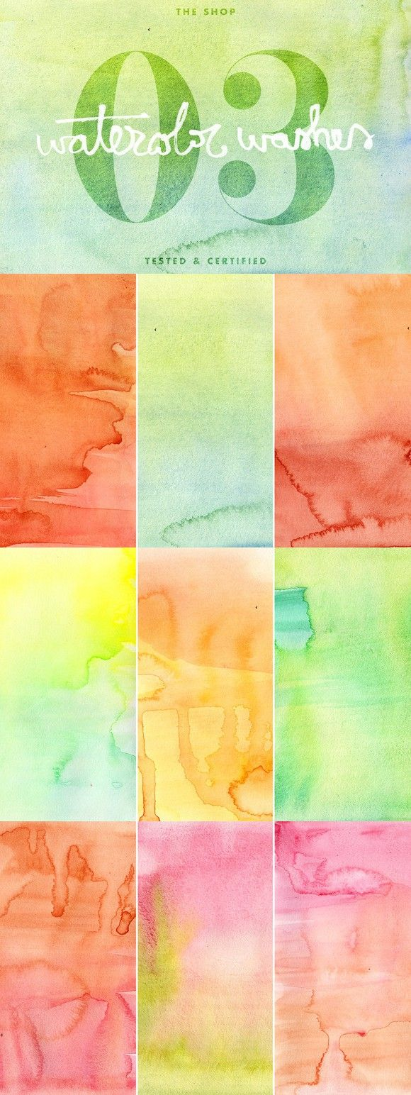 Watercolor washes textures volume 03. Textures. $10.00