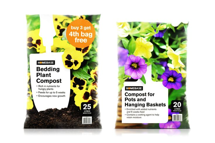 Homebase composts packaging. Designed by Q&A Studio.