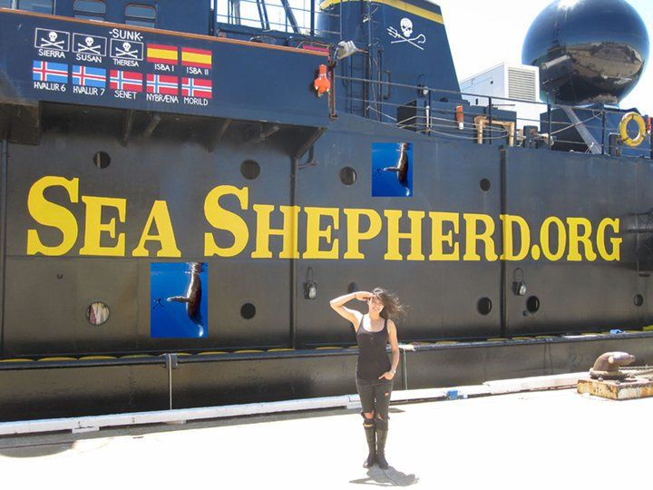 fellow sea shepherd supporter michelle rodriguez
