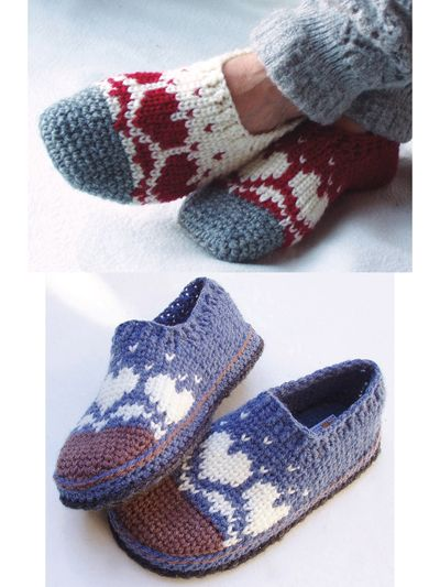 Snow Heart Slippers