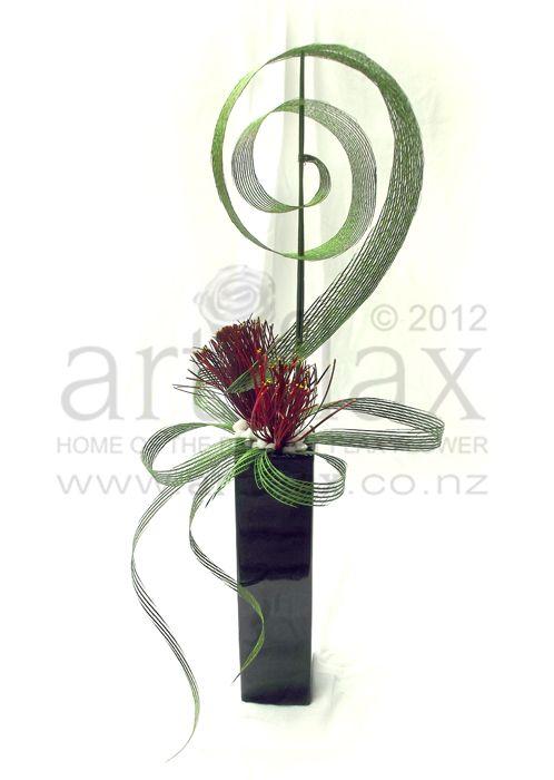 Artiflax - the store - Flax pohutukawa centrepiece