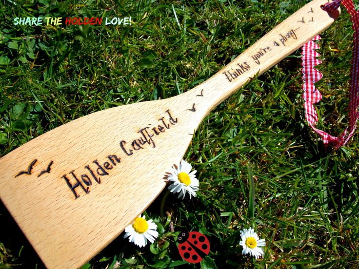Holden Caulfield Catcher In The Rye Pyrography Art Wood Burning Wooden Spatula Keepsake by LouSimArt on Etsy