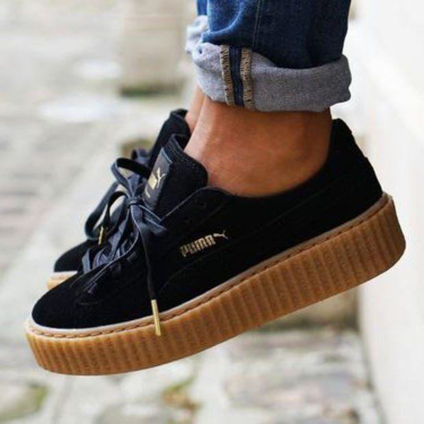venta barata ee. para toda la familia variedades anchas zapatos puma suela gruesa
