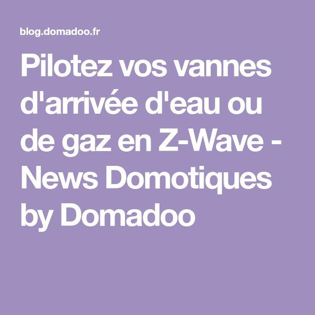 Pilotez vos vannes d'arrivée d'eau ou de gaz en Z-Wave - News Domotiques by Domadoo