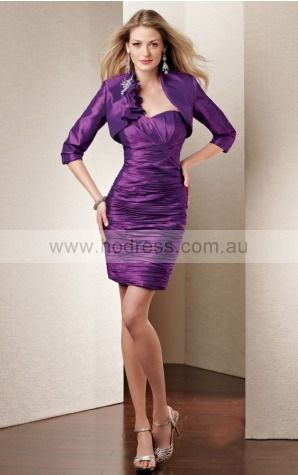 None Short Natural Sheath Taffeta Cocktail Dresses aiga307021--Hodress