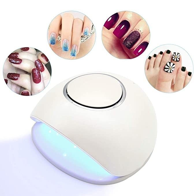 Rechargeable Cordless 48w Led Uv Nail Lamp Uv Light Led Nail Dryer Curing Lamp With Wireless Battery In 2020 Uv Nails Gel Nails Uv Nail Lamp