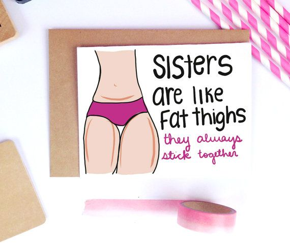 Funny Sister Birthday Card Sister Birthday Gift Best Friend