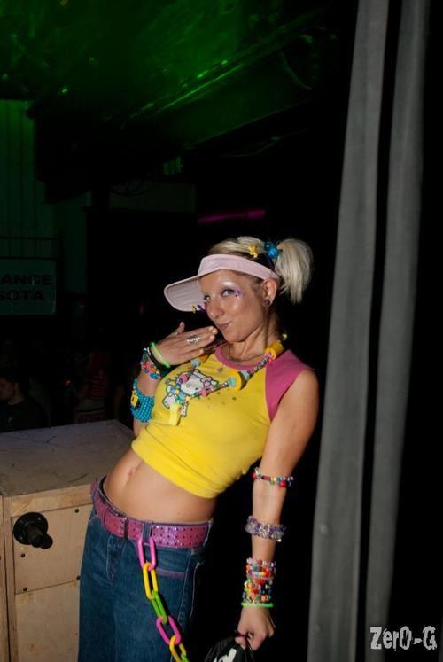 Old Skool Raver Girl