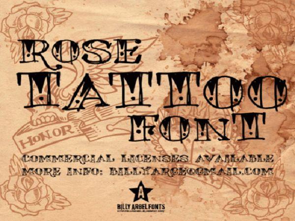 Cool Tattoo Fonts: Wonderful Rose Tattoo Font By Billy Arge Fonts ~ tattooeve.com Tattoo Ideas Inspiration