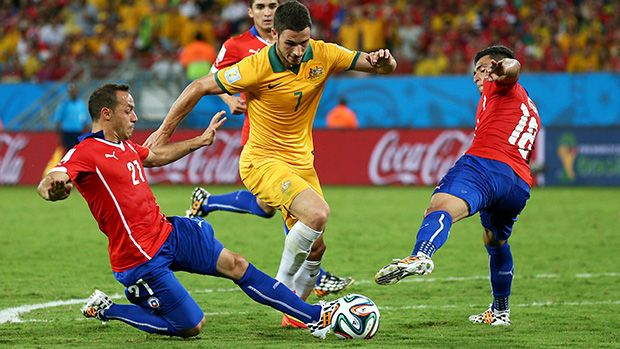 Mathew Leckie was a standout for a gallant Socceroos outfit in their 3-1 loss to Chile.