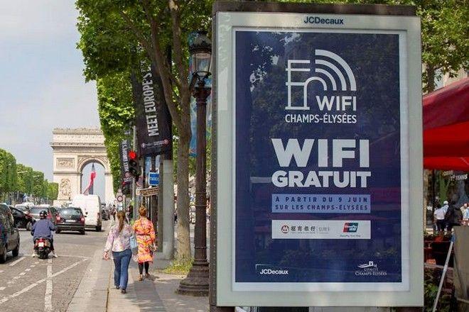 Wifi - JCDecaux - Paris   #smart #city #free #wifi #outdooradvertising #OOH #JCDecaux