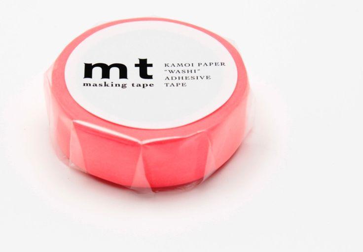 Masking Tape - Washi Tape mt Shocking | Masking Tape Neon Rot - ein Designerstück von krealiebst bei DaWanda