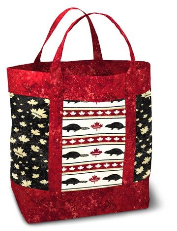 PTN679 Tote Bag uses new fabrics from Stonehenge OH CANADA II