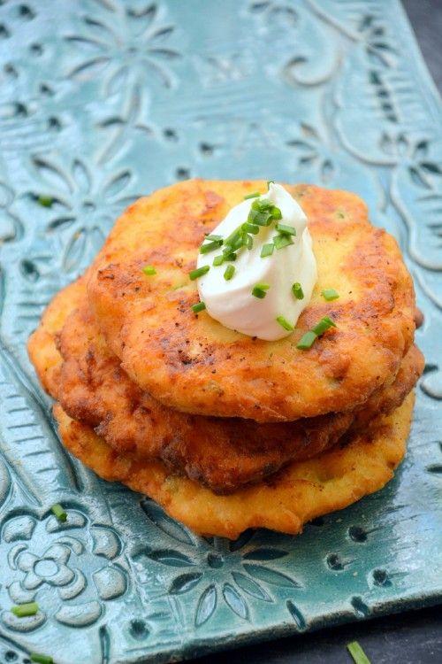 Újhagymás krumplilepény