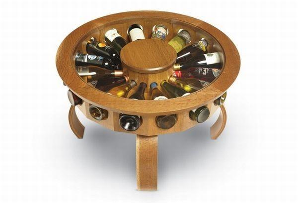 Круглый винный столик