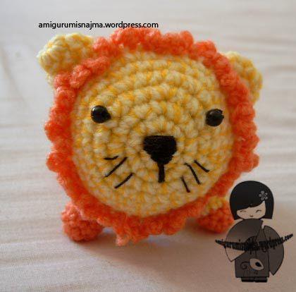Leoncio el leon amigurumi najma crochet ganchillo - Matrioska in terapia ...