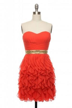 : Flamenco Dresses, Bridesmaid Dresses, Hot Dresses, Fancy Dresses For Wedding, Burnt Orange, Parties Dresses, Ruffles Dresses, Flamenco Waves, Waves Dresses
