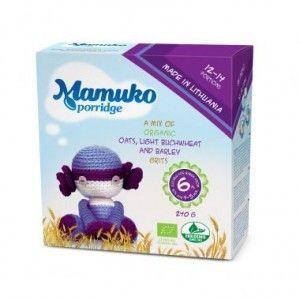 MAMUKO bio kaszka +6m OWIES - GRYKA - JĘCZMIEŃ  240g super kaszki dla dzieci bio żywnośc w biotojestto.pl