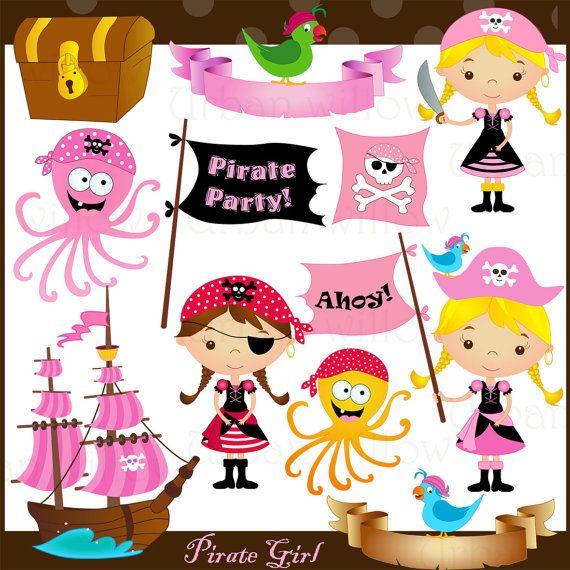 Pirate Girl Png & Jpeg clip art images. by LittlePumpkinsPix, $4.95