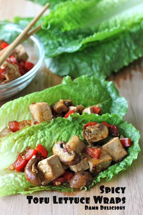 Spicy tofu wraps- looks great for a quick lunch! (Maybe ground turkey instead)?