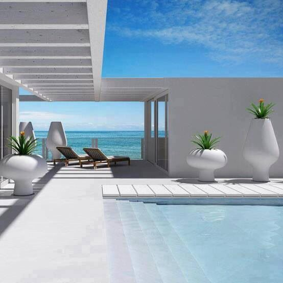 We definitely want to do long steps that go into the pool - we find we sit on them and visit.