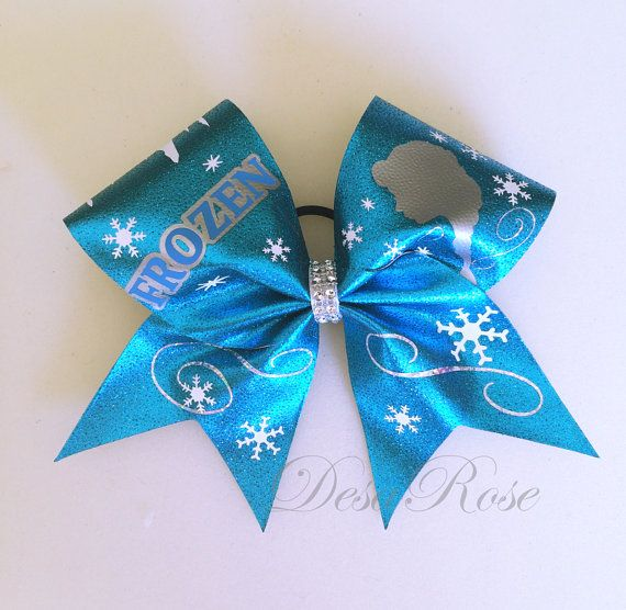 Frozen Snow Princess Elsa Cheer Bow on Etsy, $19.99