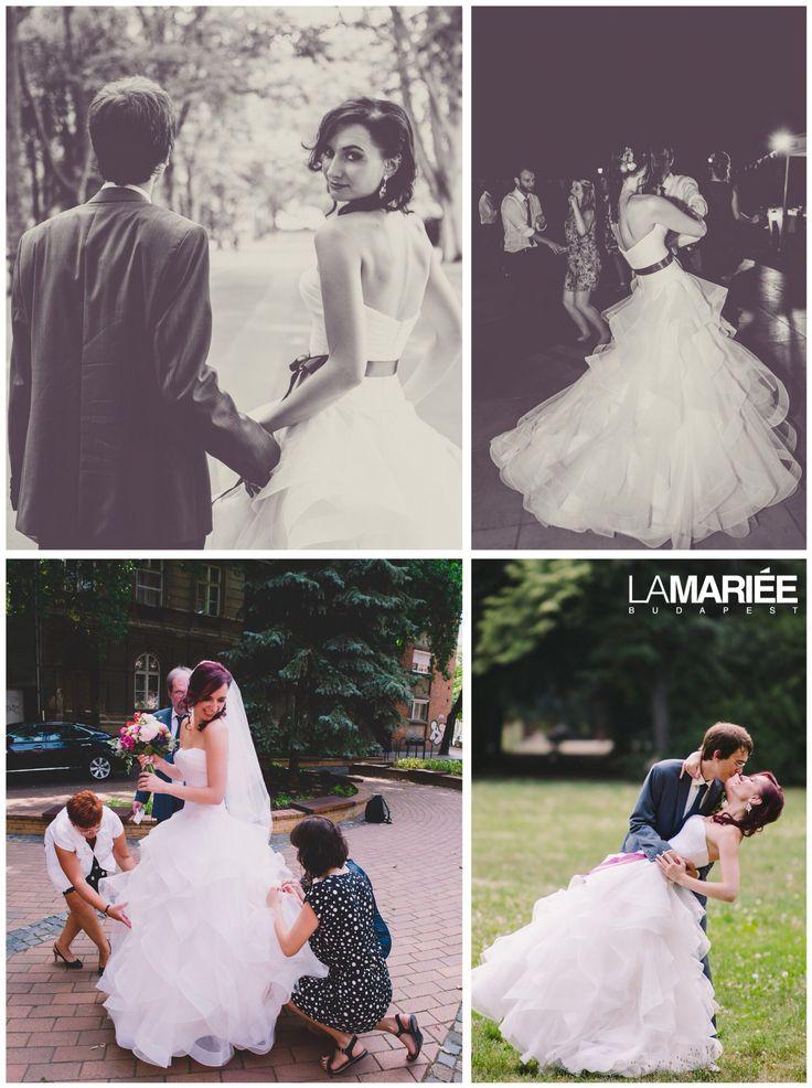 Belia esküvői ruha - Pronovias kollekció - Tünde menyasszonyunk  http://mobile.lamariee.hu/eskuvoi-ruha/pronovias-2015/belia