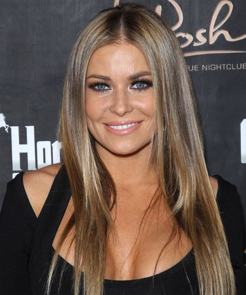 Carmen Electra - Casual Long Straight Hairstyle. Click on the image to try on this hairstyle and view styling steps!