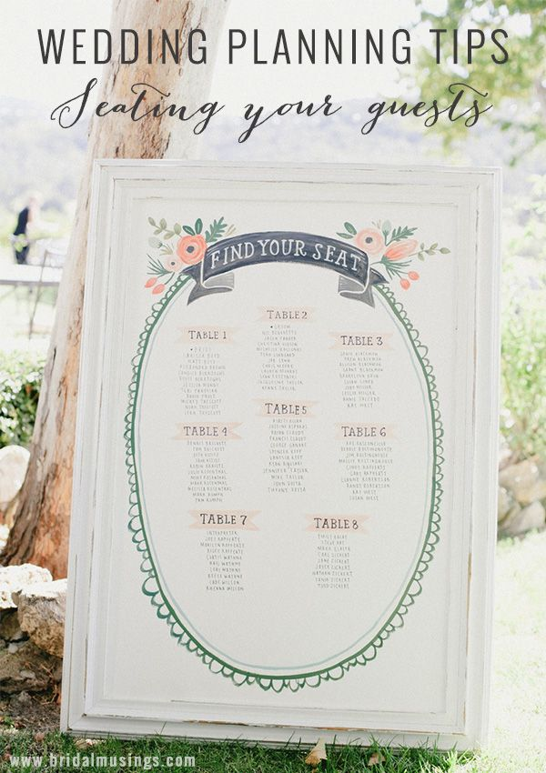 Wedding Planning Tips: Seating Guests At Your Wedding