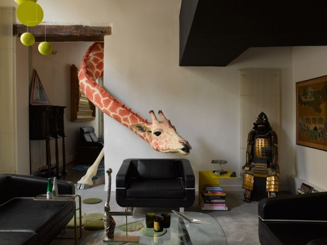 les animaux design en d coration int rieure french designers giraffes and french. Black Bedroom Furniture Sets. Home Design Ideas