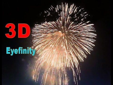4th of July, Independence Day, Boston Fireworks 2015, 3D 4K multi displa...