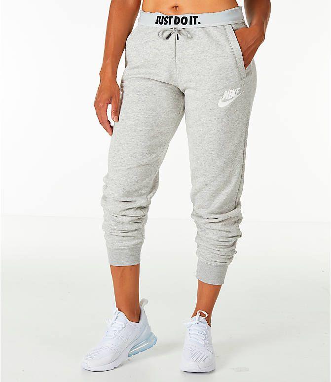 Front View Of Women S Nike Sportswear Rally Jogger Pants In Grey Nike Women Outfits Nike Outfits Nike Sportswear